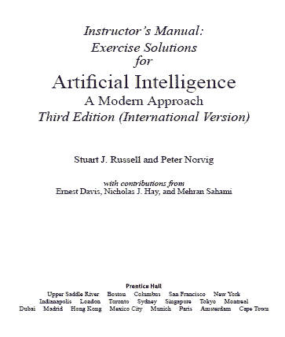 دانلودحل مسائل کتاب هوش مصنوعی russell